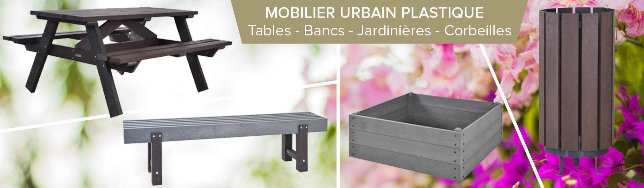 Tables, bancs, assises, poubelles... toute une gamme de mobilier urbain